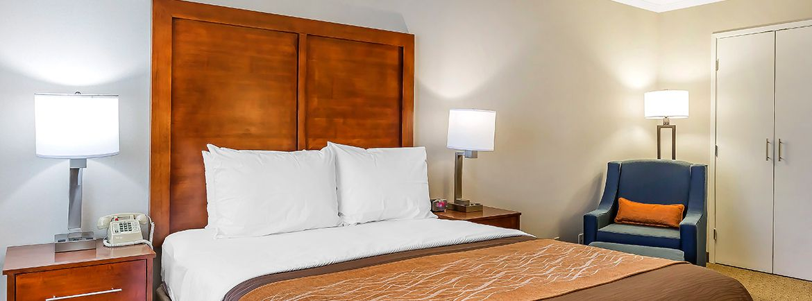 Comfort Inn Santa Monica-West Los Angeles offering Accessible Roll-in Shower Queen - HRQ