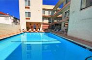 Santa Monica Hotel Pool at California